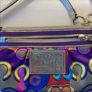 colorful coach wristlet
